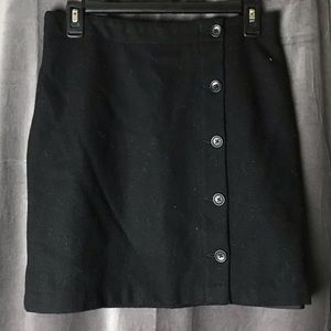 Banana Republic Black Wool Mini Skirt
